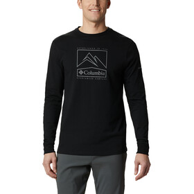 Columbia Cades Cove LS Graphic Tee Men, black jagged peak